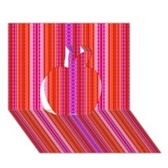 Orange Tribal Aztec Pattern Apple 3d Greeting Card (7x5)