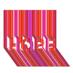 Orange Tribal Aztec Pattern Hope 3d Greeting Card (7x5)