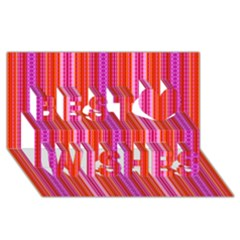 Orange tribal aztec pattern Best Wish 3D Greeting Card (8x4)