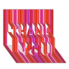 Orange tribal aztec pattern THANK YOU 3D Greeting Card (7x5)