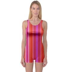 Orange tribal aztec pattern Women s Boyleg One Piece Swimsuits