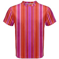 Orange tribal aztec pattern Men s Cotton Tees