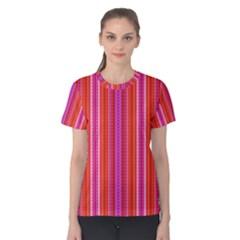 Orange tribal aztec pattern Women s Cotton Tees