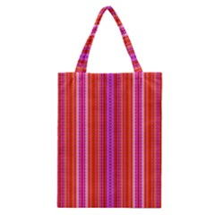 Orange tribal aztec pattern Classic Tote Bags