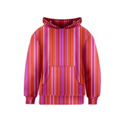 Orange tribal aztec pattern Kid s Pullover Hoodies