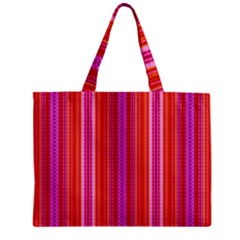 Orange Tribal Aztec Pattern Zipper Tiny Tote Bags