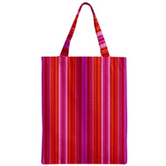 Orange tribal aztec pattern Zipper Classic Tote Bags
