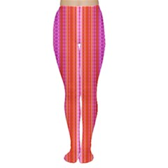 Orange tribal aztec pattern Women s Tights