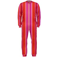 Orange Tribal Aztec Pattern Onepiece Jumpsuit (men)