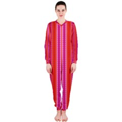 Orange tribal aztec pattern OnePiece Jumpsuit (Ladies)