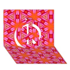 Cute Pretty Elegant Pattern Peace Sign 3D Greeting Card (7x5)