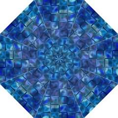 Blue Squares Tiles Straight Umbrellas