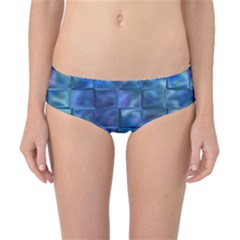 Blue Squares Tiles Classic Bikini Bottoms
