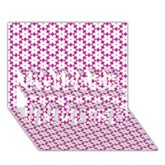 Cute Pretty Elegant Pattern YOU ARE INVITED 3D Greeting Card (7x5)