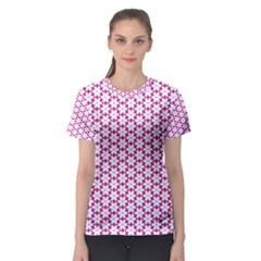 Cute Pretty Elegant Pattern Women s Sport Mesh Tees
