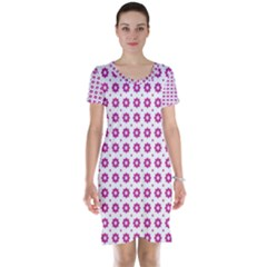 Cute Pretty Elegant Pattern Short Sleeve Nightdresses
