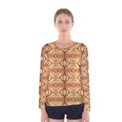 Faux Animal Print Pattern Women s Long Sleeve T Shirts