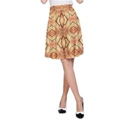 Faux Animal Print Pattern A-Line Skirts
