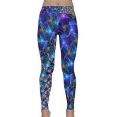 Blue Sunrise Fractal Yoga Leggings