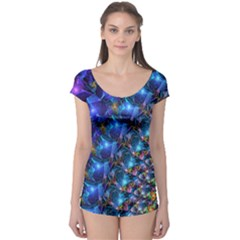 Blue Sunrise Fractal Boyleg Leotard (ladies)