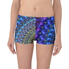 Blue Sunrise Fractal Reversible Boyleg Bikini Bottoms