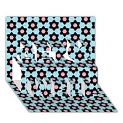 Cute Pretty Elegant Pattern Get Well 3d Greeting Card (7x5)
