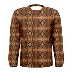 Faux Animal Print Pattern Men s Long Sleeve T Shirts