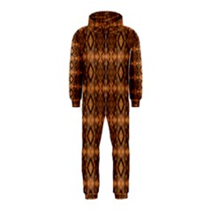 Faux Animal Print Pattern Hooded Jumpsuit (kids)