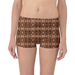 Faux Animal Print Pattern Boyleg Bikini Bottoms