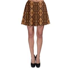 Faux Animal Print Pattern Skater Skirts