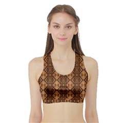 Faux Animal Print Pattern Women s Sports Bra with Border