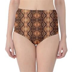 Faux Animal Print Pattern High-Waist Bikini Bottoms