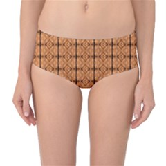 Faux Animal Print Pattern Mid Waist Bikini Bottoms