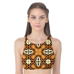 Faux Animal Print Pattern Tank Bikini Top