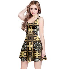 Faux Animal Print Pattern Reversible Sleeveless Dresses