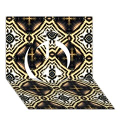 Faux Animal Print Pattern Peace Sign 3d Greeting Card (7x5)