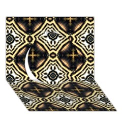 Faux Animal Print Pattern Circle 3D Greeting Card (7x5)
