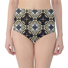Faux Animal Print Pattern High Waist Bikini Bottoms