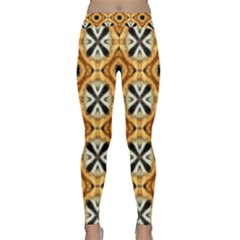 Faux Animal Print Pattern Yoga Leggings