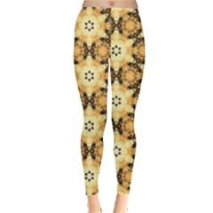 Faux Animal Print Pattern Women s Leggings