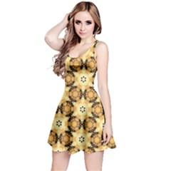 Faux Animal Print Pattern Reversible Sleeveless Dresses