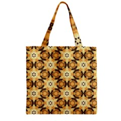 Faux Animal Print Pattern Zipper Grocery Tote Bags