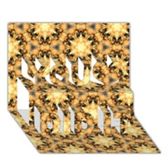 Faux Animal Print Pattern You Did It 3d Greeting Card (7x5)