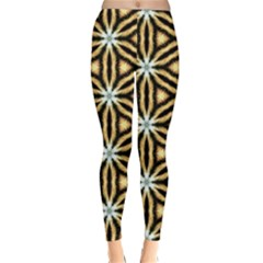 Faux Animal Print Pattern Winter Leggings