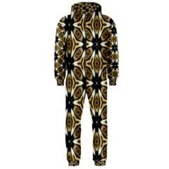 Faux Animal Print Pattern Hooded Jumpsuit (men)