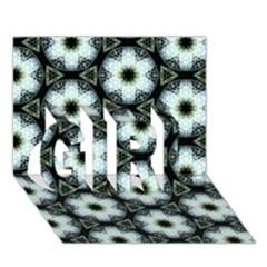Faux Animal Print Pattern Girl 3d Greeting Card (7x5)