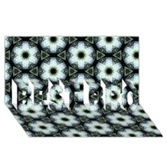 Faux Animal Print Pattern BEST BRO 3D Greeting Card (8x4)