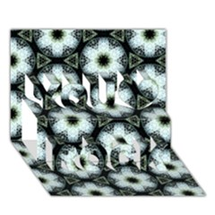 Faux Animal Print Pattern You Rock 3d Greeting Card (7x5)