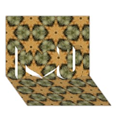 Faux Animal Print Pattern I Love You 3D Greeting Card (7x5)