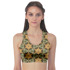 Faux Animal Print Pattern Sports Bra